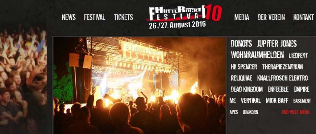 Hütte Rockt Festival 10 -Line Up komplett!