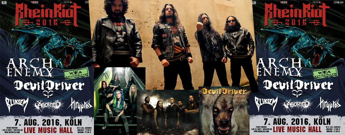 Fotos: Presse ICS / Aborted / Devildriver / Arch Enemy / Kryptos